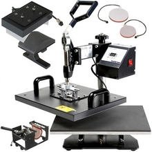 combo 6 in 1 multifunction heat press machine price with plate size 15x 20cm