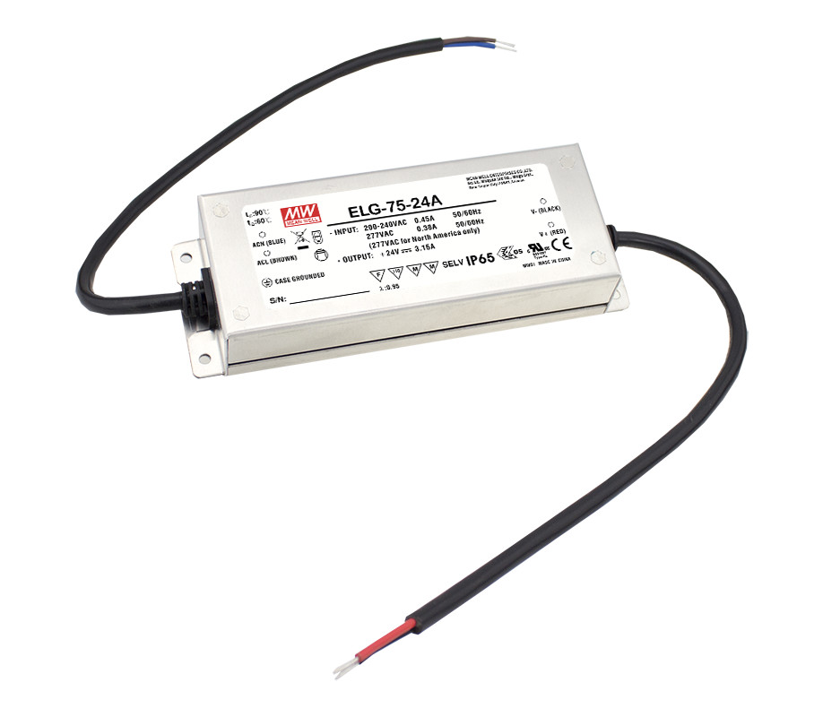 MEAN WELL original ELG-75-36B 36V 2.1A meanwell ELG-75 36V 75.6W Single Output LED Driver Power Supply B type цена