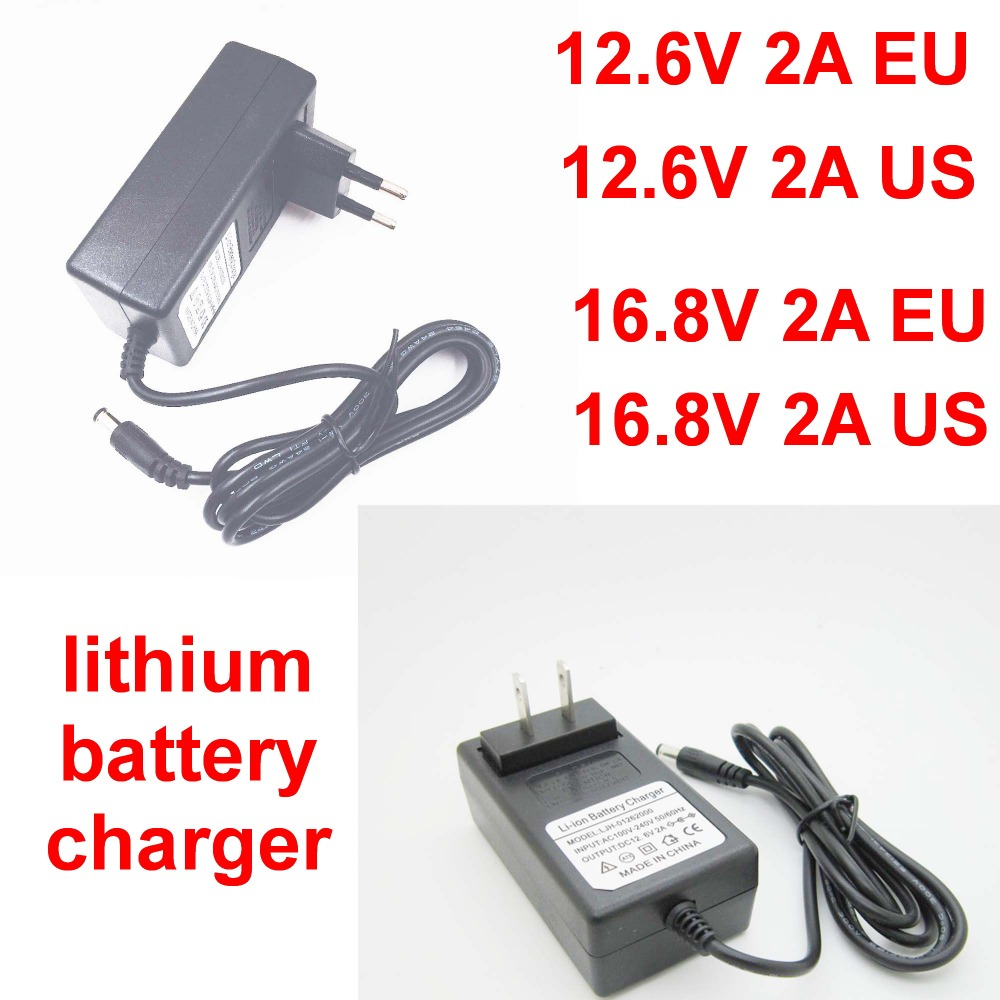 1pcs 100-240v 12.6v 2a 16.8v 2a 2000ma High Quality Polymer Lithium Battery Charger Power Adapter Charger Dual Eu/ Us Plug Nourishing The Kidneys Relieving Rheumatism