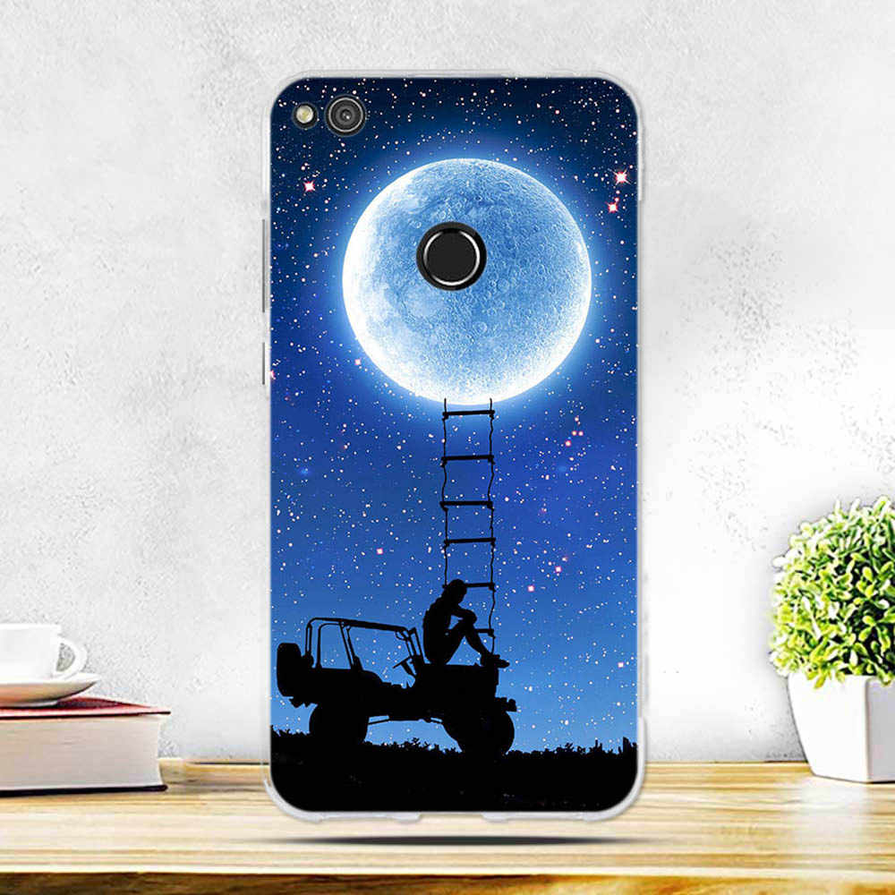Huawei Honor 8 lite için kılıf kapak için Huawei P9 Lite 2017 kılıf yumuşak silikon TPU Fundas Coque Huawei p8 Lite 2017 kılıf kapak