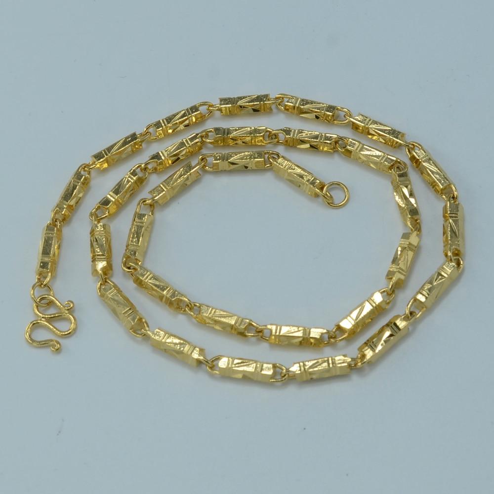 4CM 50CM 2016 NEW ethiopian necklace women gold plated jewelry brazil arab african ethiopia India Cuba