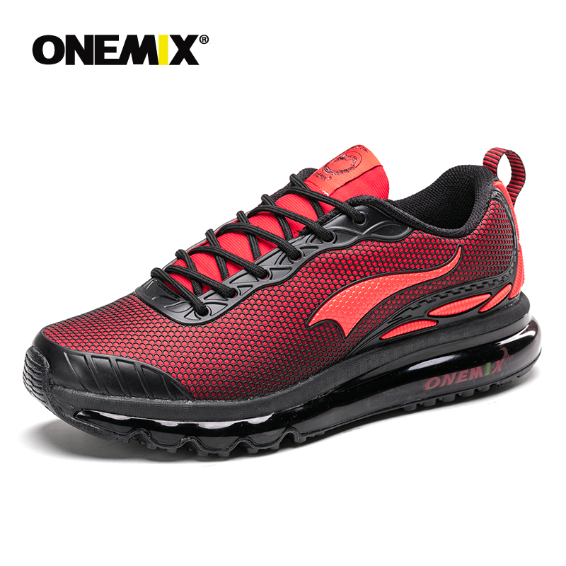 Onemix Man Running Shoes For Men Run Athletic Trail Trainers Black Zapatillas Sports Cushion Outdoor Walking