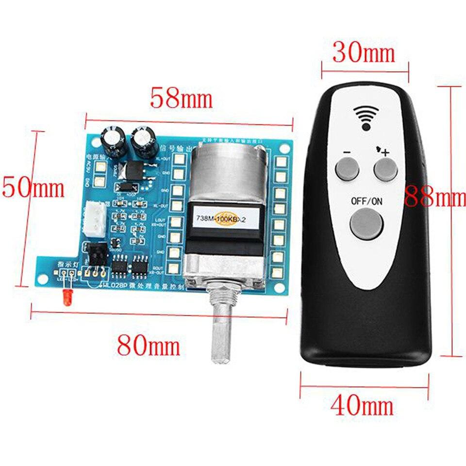 Remote Control Volume Audio source signals Potentiometer Preamp Board DIY kits