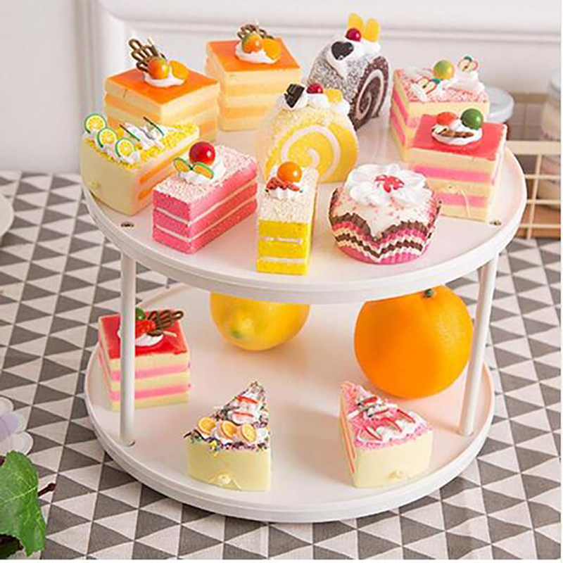 2018 New Product 360 Degree Rotating Cosmetic Display Spinning Rack Desktop Makeup Storage Racks Cake Display Stand