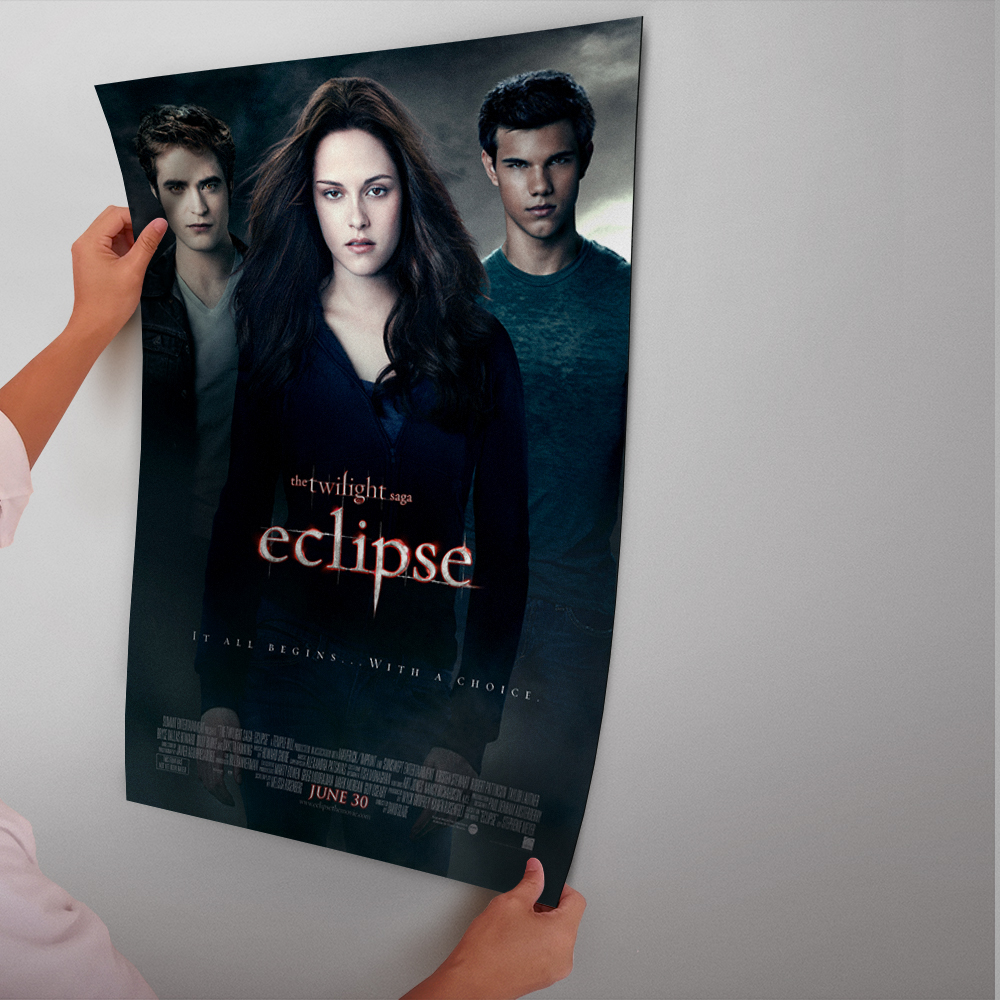 The Twilight Saga: New Moon Kristen Stewart Movie Poster Glue Paper Painting With Film Art Poster And Print Wall Sticker ...