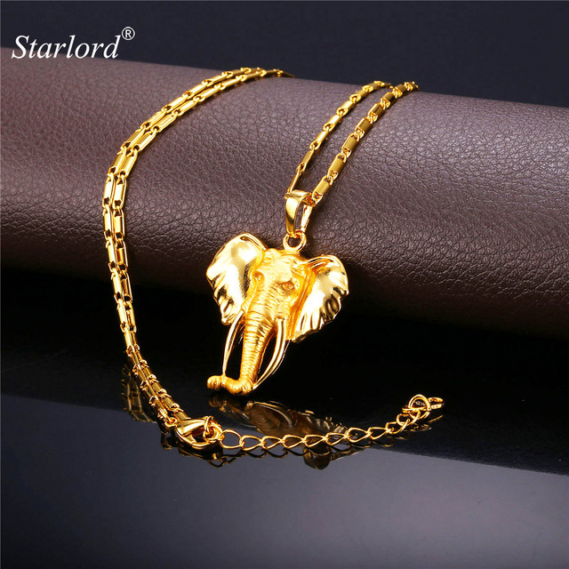 Starlord trendy elephant charm necklaces pendants menwomen starlord trendy elephant charm necklaces pendants menwomen african animal jewelry gold color necklace aloadofball Choice Image