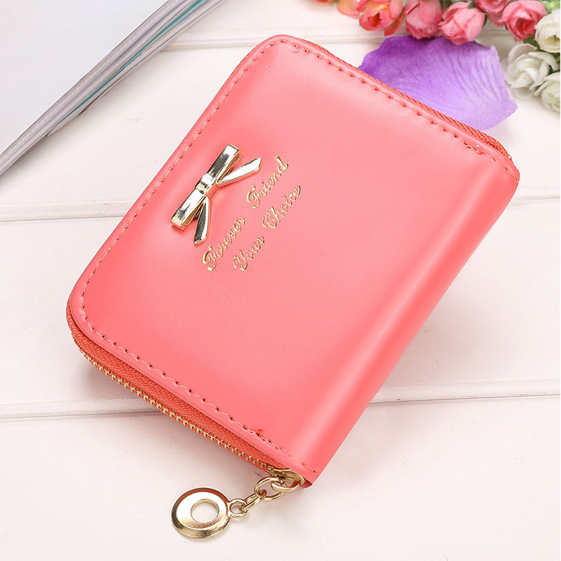 Women Short Wallet Woman Cute Bowtie Purses High Quality Coin Purse Ladies Fashion Money Bag Card Holder Female Clutch Hot Sale