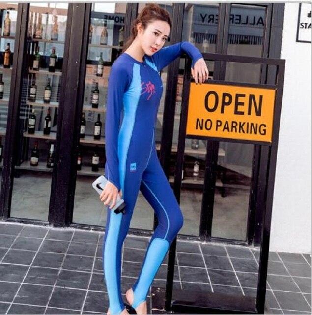New Women Surfing Swimwear Snorkeling Wetsuit Full Diving Skin Suit Beach Rashguard