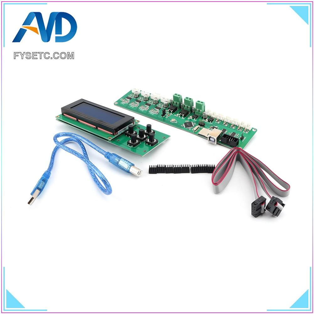 2004LCD + Melzi 2.0 1284 P 3D Imprimer PCB Conseil IC ATMEGA1284P Accessoires Pour Tronxy 3D Panneau de Commande De L'imprimante DIY kit Partie - 2