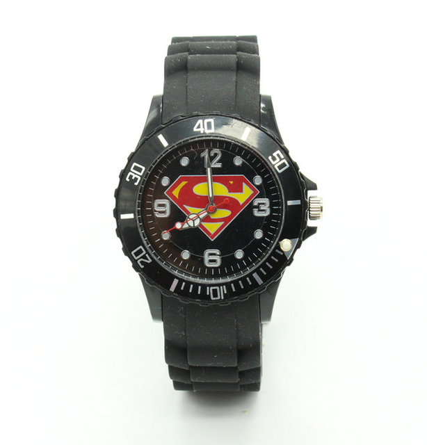 Fashion Superman Superhero Quartz wrist Watch For Boy Lady Girl Woman Men HBX01