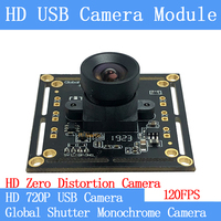 120FPS MJPEG USB Camera Module Non Distortion monochrome Global Shutter High Speed OTG UVC Linux 720P USB Surveillance camera