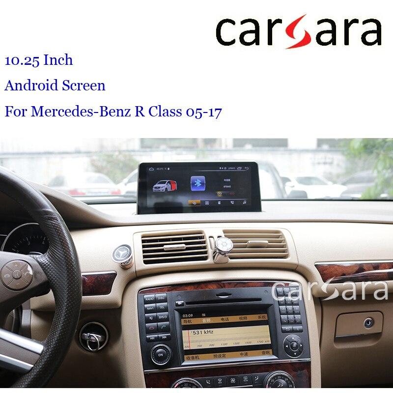 """Mercedes R classe W251 Android tableau de bord Navigation mise à niveau 10.25 """"tablette moniteur"""