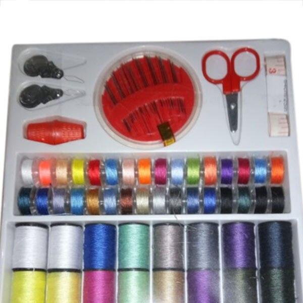 64 резьбы катушки наборы для шитья игольчатая лента ножницы многофункциональные DIY Швейные Инструменты GQ999