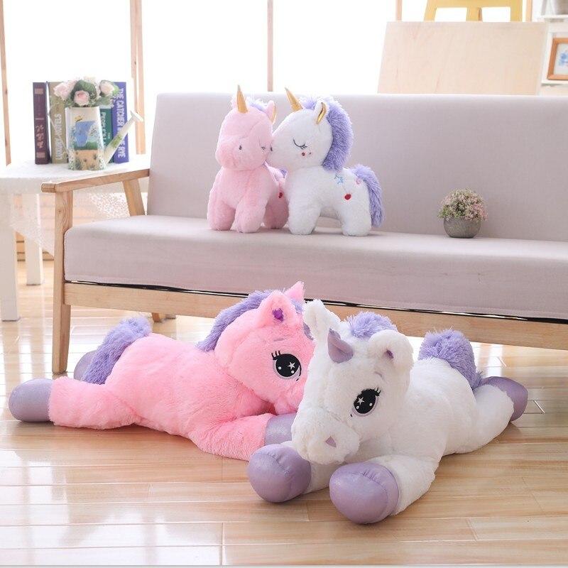 Riesen Größe Einhorn Plüsch Spielzeug Weiche Angefüllte Cartoon Einhorn Puppen Tier Pferd Hohe Qualität Geschenk für drop shiping