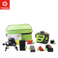 Fukuda 12 lines MW 93T lithium battery green laser level 360 Vertical And Horizontal Self leveling Cross Line 3D Laser Level