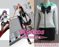 High school OF THE DEAD Busujima Saeko Cosplay costume customized