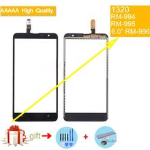 For Nokia Lumia 1320 N1320 RM-994 RM-995 RM-996 Touch Screen Touch Panel Sensor Digitizer Front Glass Outer Lens Touchscreen high quality replacement parts for nokia lumia 1320 touch screen digitizer n1320 lcd glass with flex cable 1 piece free shipping