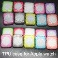 100 pçs/lote suave assista case voltar protective 38mm/42mm ultra fina limpar tpu tampa funda capa para apple watch case 38mm