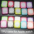 100 unids/lote reloj case contraportada protectora suave 38mm/42mm ultra thin clear tpu funda cubierta capa para apple watch case 38mm