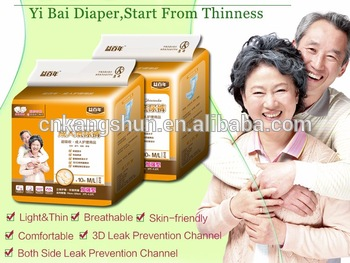disposable adult diapers though strict diaper production line in China