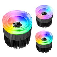 RGB Light Changing Color PWM 4Pin Cooling Radiator Noiseless Computer CPU Fan Cooler