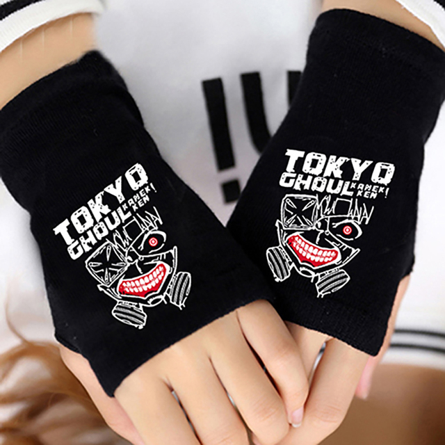 Tokyo Ghoul Finger Cotton Knitting Wrist Gloves