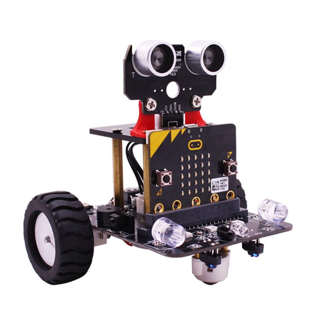 Графический программируемый робот-автомобиль с Bluetooth ИК и трекинговым модулем, паровой робот-игрушка для микро: бит Bbc - Цвет: With Mainboard