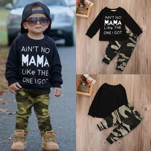 Newborn Infant Baby Boy Clothing Set Long Sleeve T-shirt Tops Pants Casual Outfits Camouflage 2PCS Set Boys Clothes newborn infant kids baby boy clothes set t shirt tops pants camouflage pants baby boys clothing outfits set