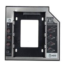 """Универсальный 12.7 мм Пластик + Алюминиевый 2.5 """"SATA HDD SSD Caddy Дело HDD Корпус для Ноутбуков Оптические диск"""