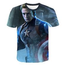 New 2019 Batman Spiderman Ironman Superman Captain America Summer soldier T shirt Avengers Costume Comics Superhero Mens