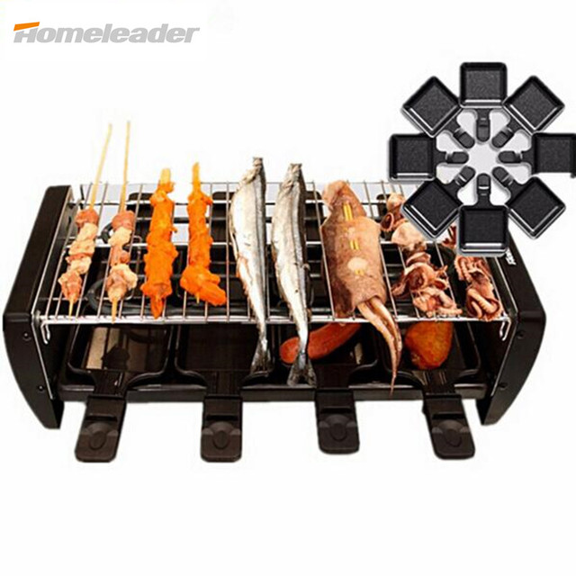 Homeleader Portable Electrical Grill BBQ Grill Machine Non Stick Electric  Grill With Flat Pan For