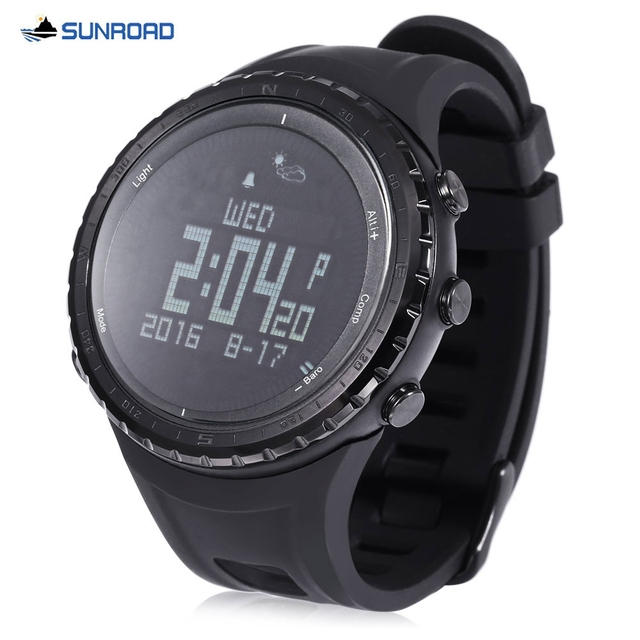 SUNROAD FR803 Bluetooth 4.0 Sports Smart Watch Life Waterproof  Pedometer Thermometer Compass Outdoor Wristwatch for Android IOS