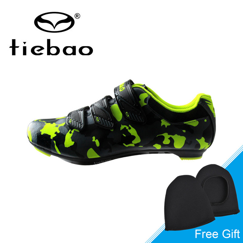 Tiebao Ultralight Breathable Road Bike Shoes Auto-lock Cycling Shoes Outdoor Athletic Road Bicycle Shoes Sapatos ciclismo santic men road cycling shoes outdoor sports breathable road bike shoes auto lock bicycle shoes zapatillas ciclismo