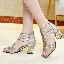 New Women Dress Shoes Gladiator Sandals sandalias botas Open Toe Ankle Boots High Heels Sandal Bling Wedding Shoes Summer Pump