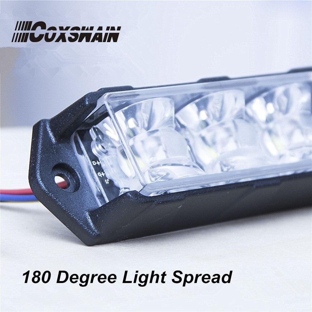 ÇİFT RENK Araba LED Izgara Yüzey Montaj flaş ışığı, 6 * 3W - Güvenlik ve Koruma - Fotoğraf 5