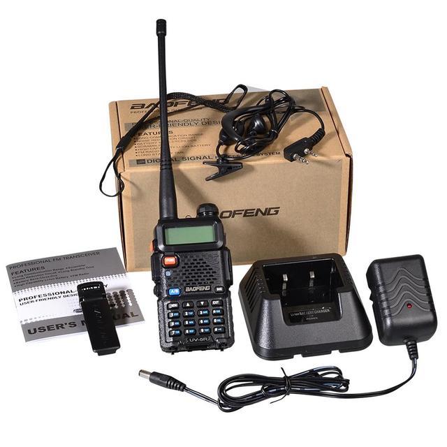 Baofeng UV 5R Walkie Talkie Professionelle CB Radio Station Transceiver 5 W VHF UHF Tragbare UV 5R Jagd Ham Radio In spanien DE
