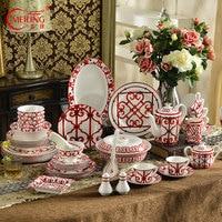 Europe Luxury Blue Tea Coffee Cup Set Fine Bone China Porcelain Tableware Milk Sugar Jar Ceramic Teapot Home Kitchen Decorations