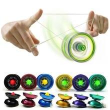 Nuevos juguetes hasard alliage de aluminio brillante concepción haute vitesse YoYo bolas professionnel ayant truco yo-yo de cuerda enfants
