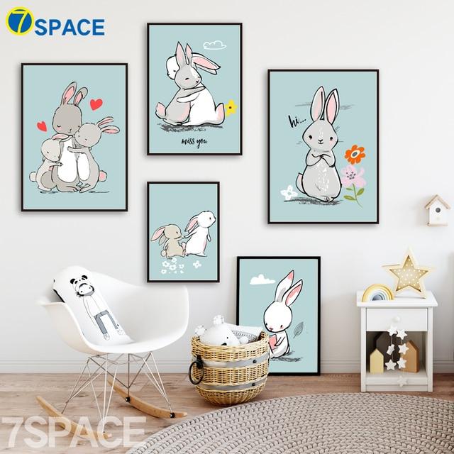 Aliexpresscom Comprar Montajes 7 espacio Familia Conejo Pintura