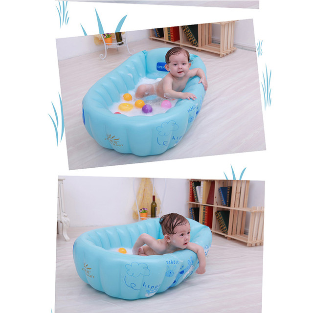 Online Shop Baby Inflatable Bathtub Swimming Float Safety Wash Tub ...