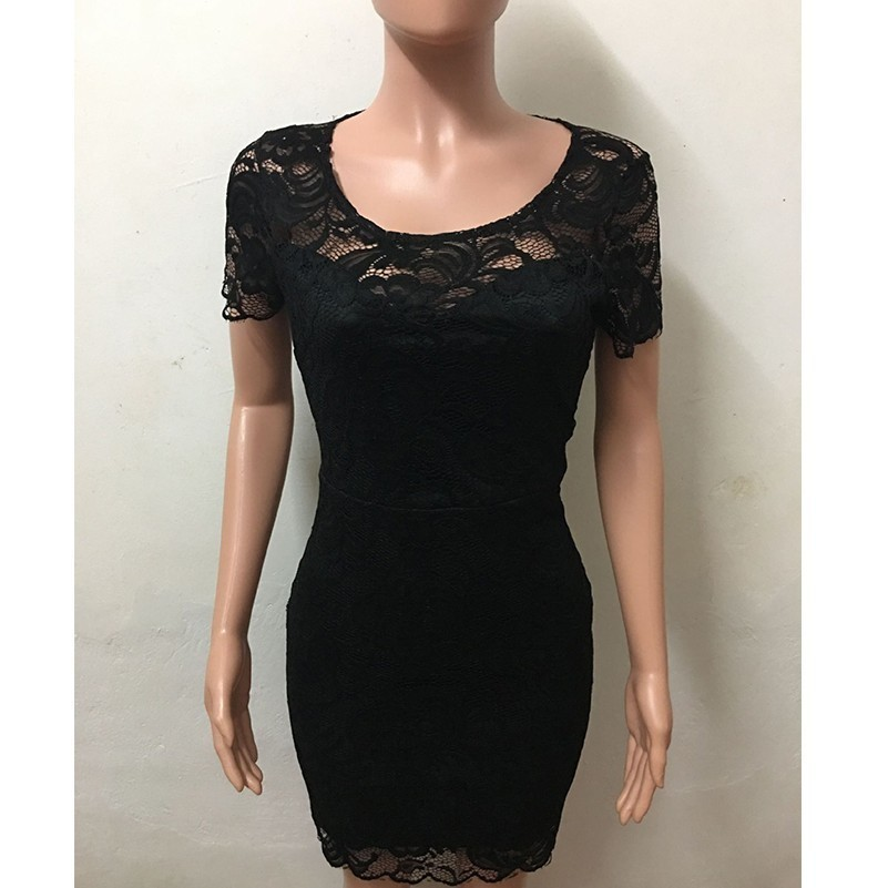 MUXU black lace pencil dress women clothing vestidos sexy mini clothes bodycon ladies dresses ropa mujer kleider in Dresses from Women 39 s Clothing