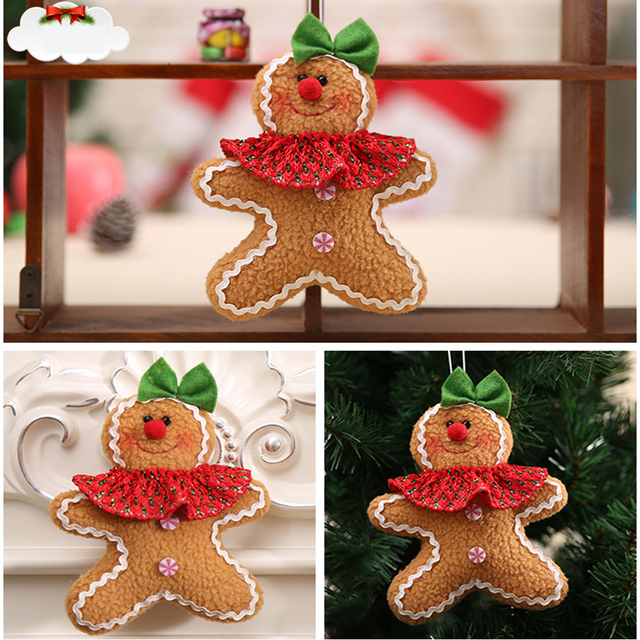 2018 gingerbread man hanging merry christmas ornaments gift ornament christmas tree decoration festival party supplies