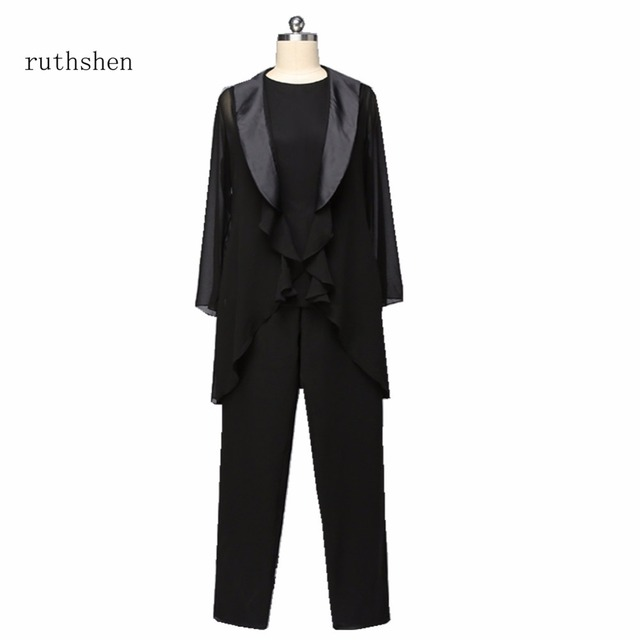 ruthshen Mother Of The Bride Chiffon Pants Suit With Jacket ...