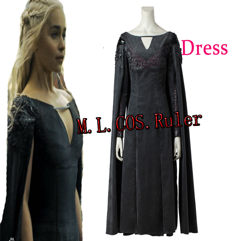 Halloween Mother of Dragons From Game of Thrones Season 7 Cosplay Costume Daenerys Targaryen Women Dresses Only Custom Made