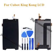 5.0 นิ้วสำหรับ Cubot King Kong LCD + touch digitizer สำหรับ Cubot Kingkong ชิ้นส่วนซ่อมหน้าจอ lcd
