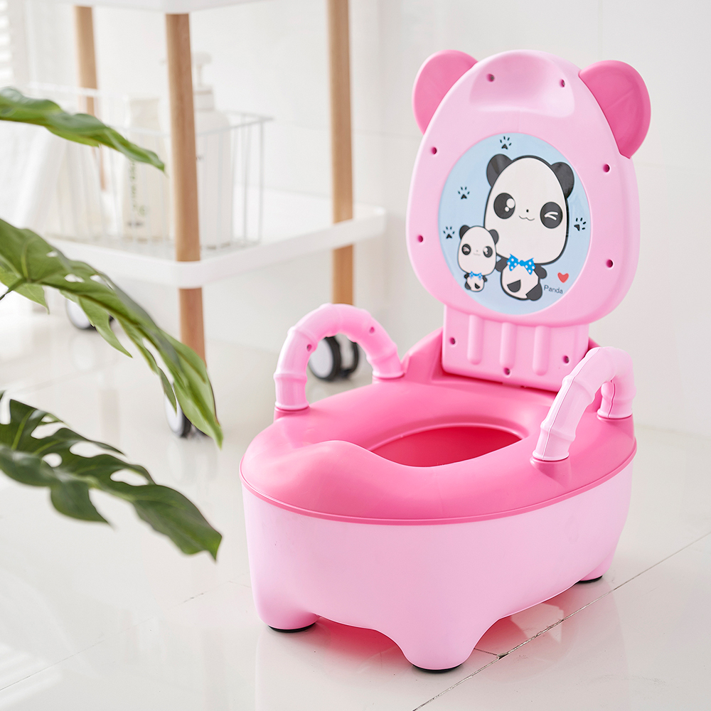 Portable Baby Pot For Children Potty Training Toilet Seat Baby Potty Infant Bedpan Comfortable Backrest Seats Cartoon Cute Pots