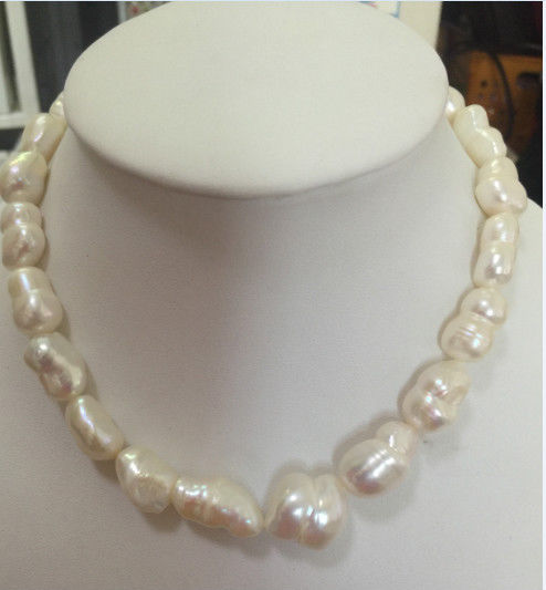 elegant14-15mm baroque south sea white pearl necklace 18inch elegant14 15mm baroque south sea white pearl necklace 18inch