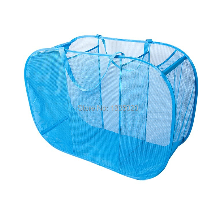 Laundry Basket For Toys Clothes Storage Hamper Pop Up Sorter Mesh Foldable Dirty Washing Bag In Bags Baskets From