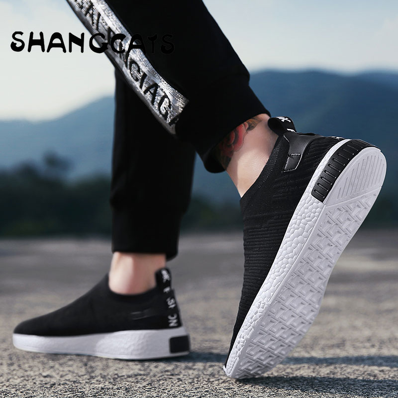 Thin Shoes For Summer White Shoes Men Sneakers Teen Shoes Without Lace Trend 2019 New Feel Thin Shoes For Summer White Shoes Men Sneakers Teen Shoes Without Lace Trend 2019 New Feel Socks Shoes tenis masculino chaussure