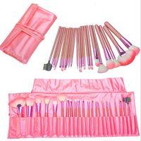 Professionelle 22 Stücke Make-Up Pinsel Set Schönheit Kosmetische Bürsten Maquiagem Pinceaux Kabuki Bilden Kits Pouch Tasche Rosa